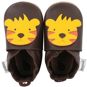 "Chaussons bébé en cuir Soft Sole ""Lion"" Marron Bobux"