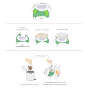 Culotte couche lavable T.MAC - Taupe - Hamac