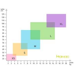 Matelas absorbants lavables en coton biologique (x2) - Taille M/L - Hamac