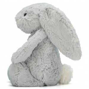 Peluche grande lapin Jellycat Bashful bunny silver really big 67cm