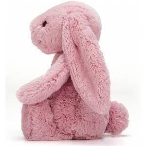 Peluche lapin géante Bashful bunny rose tulip jellycat