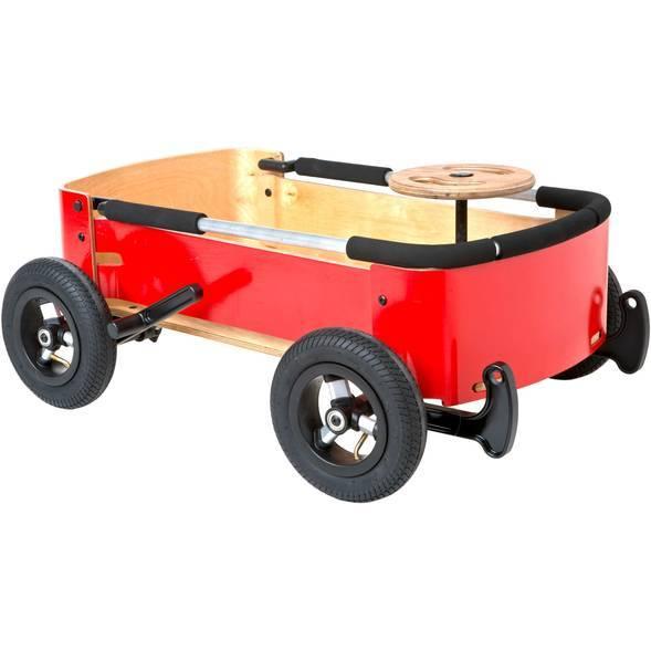 """Chariot Wagon en bois 3 en 1 """"Rouge"""" (1-10 ans)"""