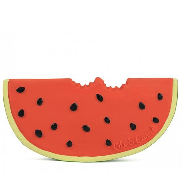 "Anneau de dentition en hevea ""Wally the Watermelon"""