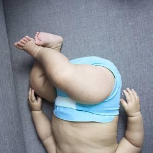 """Couche lavable bébé et nouveau-né """"Bleu Poseidon"""" Hamac - Dröm Design"""