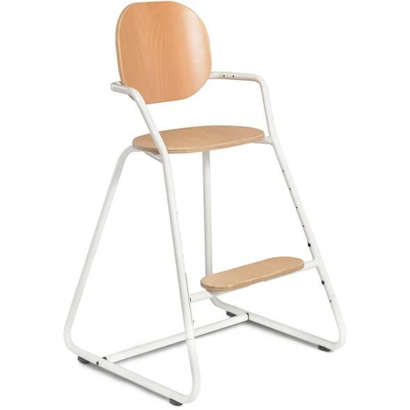 "Chaise haute évolutive Tibu en bois ""Gentle White"""