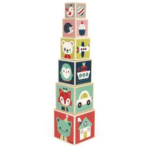 "Pyramide en bois à empiler ""Baby Forest"" Janod"