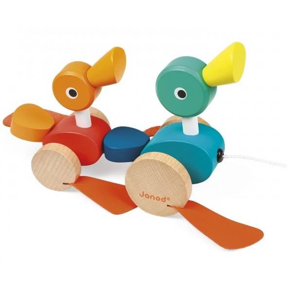 """Jouet en bois à tirer """"Canards"""" (1-3 ans)"""