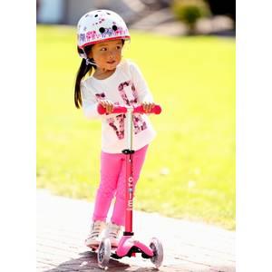 "Trottinette enfant 3 roues Mini micro 3 en 1 push bar deluxe ""Rose"" micro"