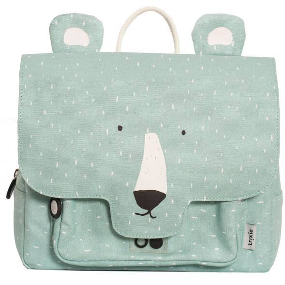 "Cartable ""Mr Polar Bear"" en coton bio"