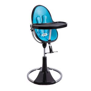 Chaise haute Fresco Chrome Noir avec assise - bloom