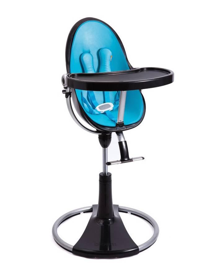 Chaise haute fresco chrome noir sans assise bloom dr m design - Chaise haute bloom occasion ...
