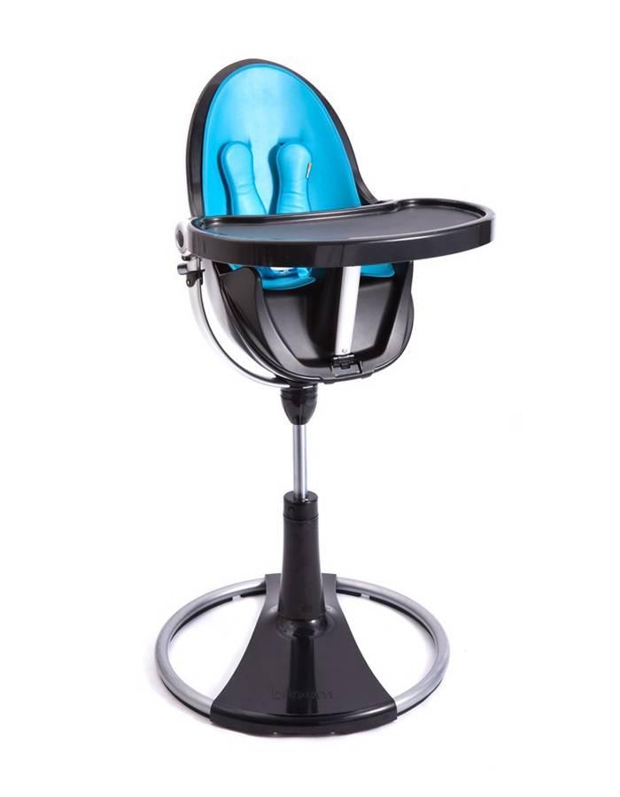 Chaise haute fresco chrome noir sans assise bloom dr m design - Bloom chaise haute fresco ...