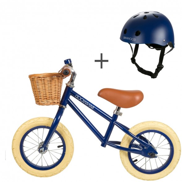 Pack Draisienne First Go! (3-5 ans) + casque - Navy
