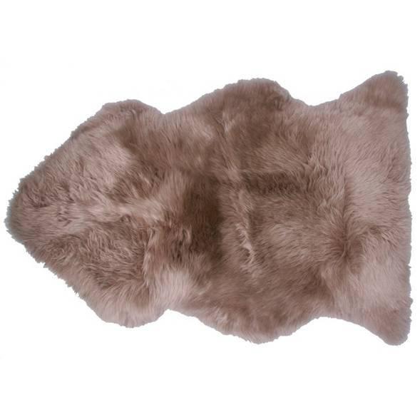 """Tapis Douchka 100% peau de mouton """"Taupe"""" (100 x 67 cm)"""