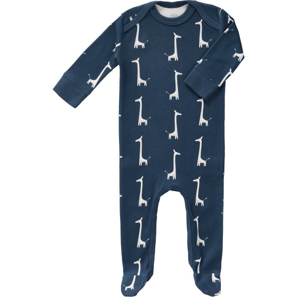 """Pyjama bébé avec pieds en coton bio """"Girafe Indigo"""""""