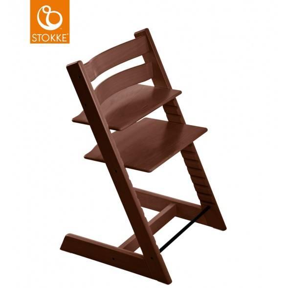 "Chaise haute Tripp Trapp en bois ""Noyer"""
