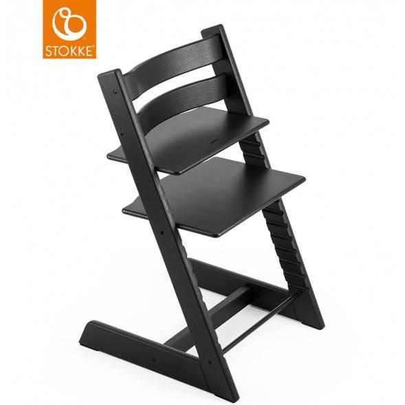 Chaise haute évolutive tripp trapp en bois de chêne Noir Stokke