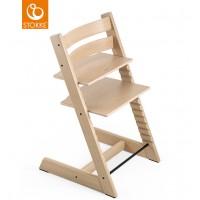 Chaise haute évolutive tripp trapp en bois de chêne Blanc Stokke
