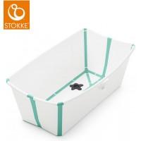 "Baignoire pliable Flexi Bath ""Blanc/Aqua"" Stokke"