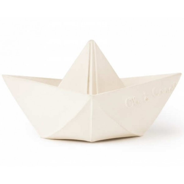 "Bateau de bain Origami en hevea ""Blanc"""