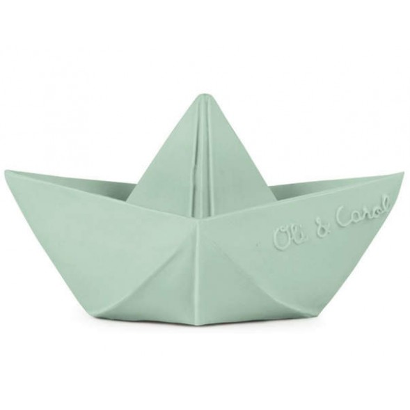 "Bateau Origami en hevea ""Menthe"""