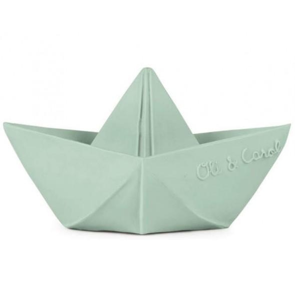"Bateau de bain Origami en hevea ""Menthe"""