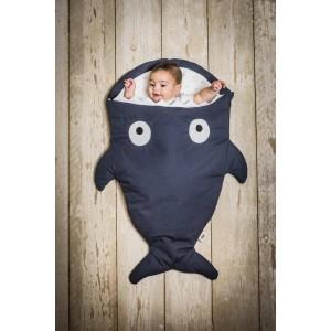 """Sac de couchage / Chancelière bébé Requin Hiver """"Navy / Bateaux"""" BabyBites"""