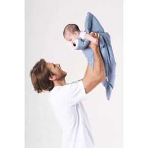 """Sac de couchage bébé Hiver Requin """"Bleu/Bicyclette"""" Baby Bites"""