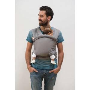 Echarpe de portage tricot slen bleu marine - babylonia -
