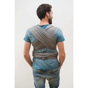 """Echarpe de portage """"tricot slen"""" - bleu jean - Babylonia"""