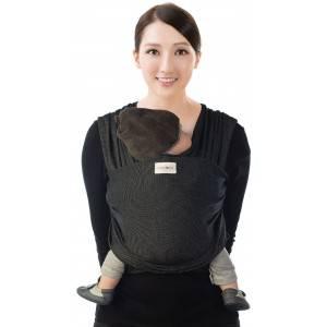 "Echarpe de portage Tricot-Slen Design  en coton bio ""Black Stipple"" Babylonia"