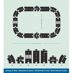 """Circuit de voiture enfant flexible et extérieur  """"Expressway"""" (16 pièces) Waytoplay"""