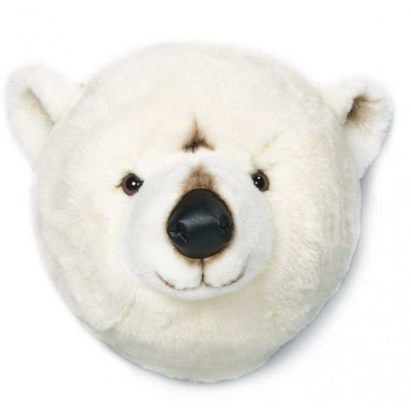 Trophée tête deco animal Basile l'Ours Polaire bibib & Co