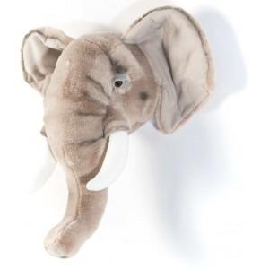 Trophée tête deco animal Georges l'Elephant   wild & soft