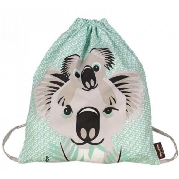 Sac d'activités enfant en coton bio Mibo Koala