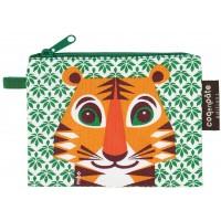 Porte-monnaie en coton bio Mibo Tigre
