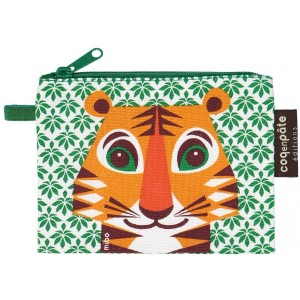 Porte-monnaie enfant en coton bio Tigre Coq en Pâte
