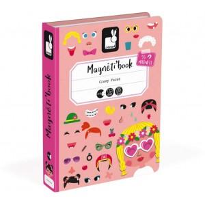 Jeu de voyage enfant Magnéti'Book Crazy Faces Janod