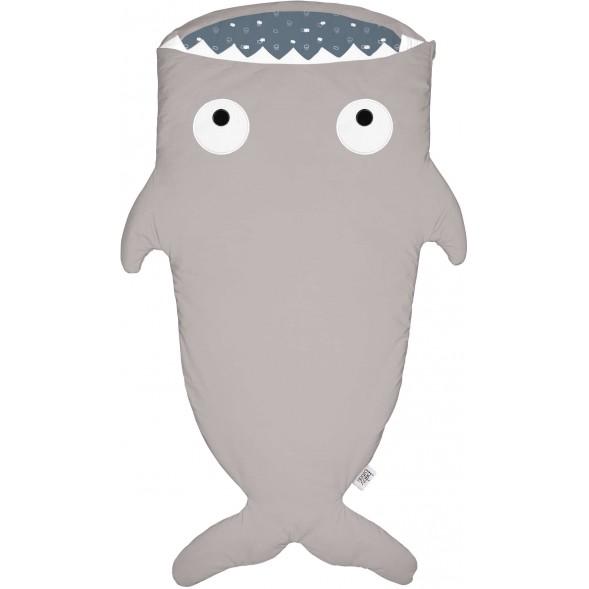 """Sac de couchage Hiver (2/6 ans) Requin """"Stone-Blue"""""""