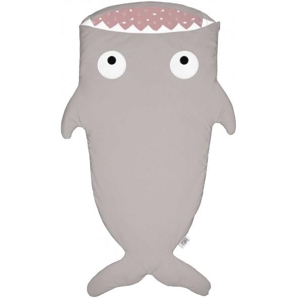 "Sac de couchage (2/6 ans) Requin ""Stone-Pink"""