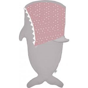 "Sac de couchage enfant Requin ""Stone-Pink"" - Baby Bites"