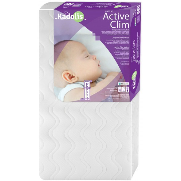 Matelas bébé 60x140 Tencel Active Clim