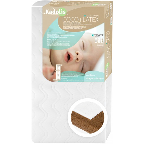 Matelas bébé 60x140 Coco Latex