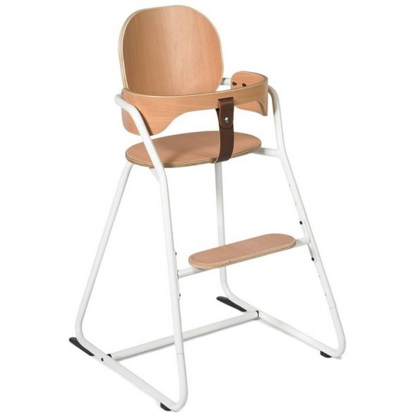 Chaise haute évolutive Tibu en bois Gentle White + Baby Set + Coussins (au choix)