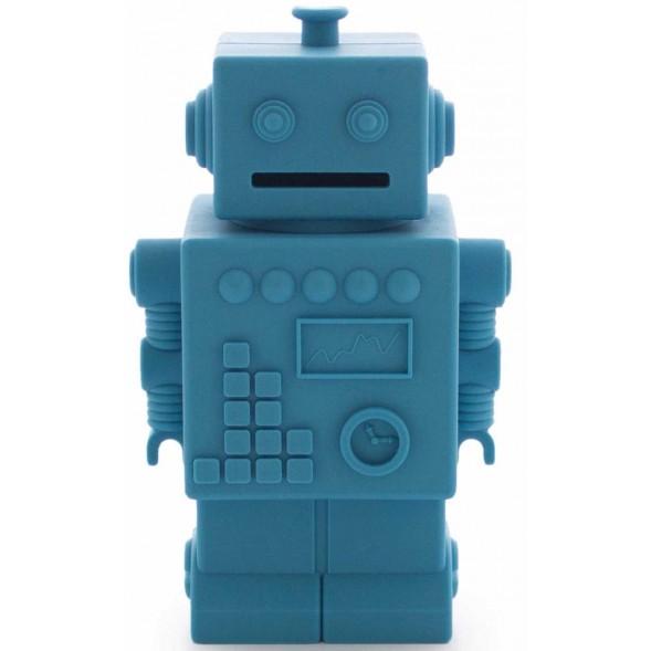 """Tirelire en silicone Robot """"Bleu"""""""