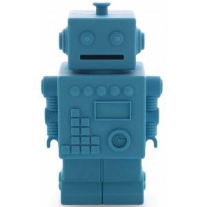 Tirelire robot bleu - kg design -