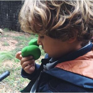 Canard de bain écologique en hevea Vert oli & carol
