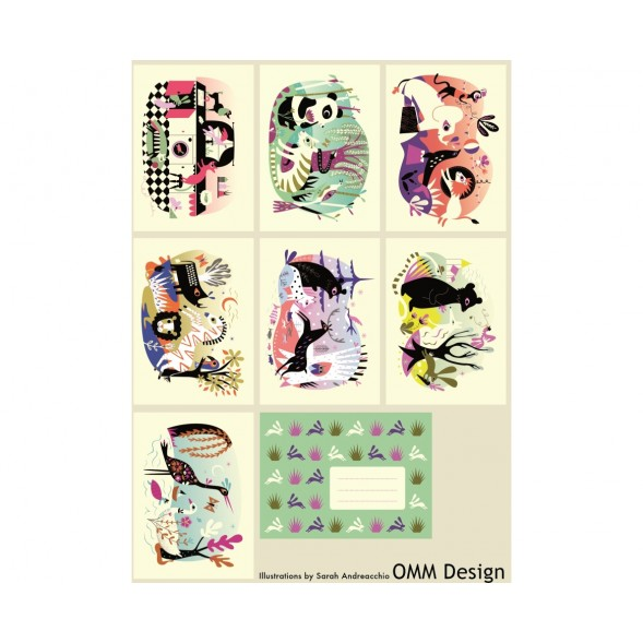 "Cartes postales ""Animal Rendez-vous"" (7 cartes + enveloppes)"