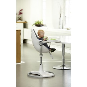 Chaise haute Fresco Chrome BLANC avec assise - bloom