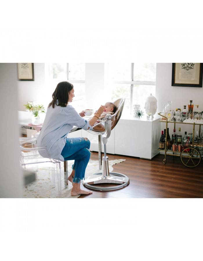 Chaise haute fresco chrome titane sans assise bloom dr m design - Bloom chaise haute fresco ...